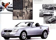 """MERCEDES """"SLK"""" - 200 / 230 Kompressor - 1996 - German sales brochure, prospekte"""