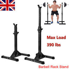 Adjustable Heavy Duty Power Rack Squat Stands Barbell Weight Bench Stand B