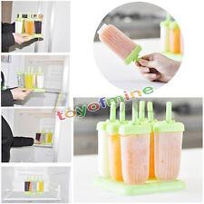Transparente congelados Helado Molde Maker Lolly Bandeja De Pan De Molde Yogurt