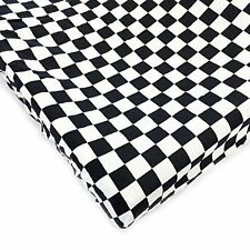 One Grace Place 10-20035C Teyo's Tires Changing Pad Cover Checkers Black/White