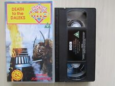 DEATH TO THE DALEKS - VHS VIDEO TAPE - COMPLETE AND UNEDITED - 1995 BBC - TESTED
