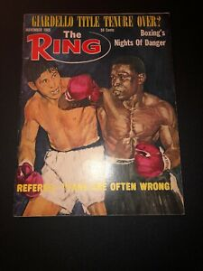 THE RING MAGAZINE JOEY GIARDELLO-DICK TIGER BOXING HOFers COVER NOVEMBER 1965
