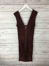 FRENCH CONNECTION Bodycon Dress - Size UK8 - Brown - Great Condition