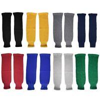 TronX SK80 Solid Color Classic Knit Ice Hockey Socks Adult Senior Junior Kids