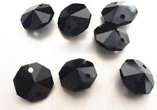 20PCS 14MM black Crystal Octagonal beads Decoration Crystal chandelier parts