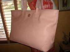 dca74fb8d4c3 NWT TORY BURCH Robinson Spectator EW SAFFIANO PINK Leather Tote  550 DUSTBAG