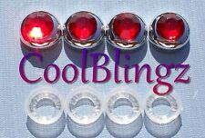 Red Rhinestone Screw Caps for Crystal Diamond Bling Sparkle License Plate Frame