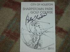 Bobby Nichols Winner Signed  City of Houston  Scorecard