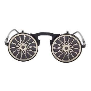 Retro Steampunk Metal Flip-Up Sunglasses Halloween Cosplay Round Glasses