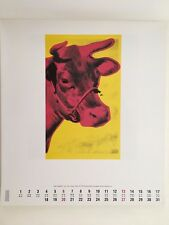 ANDY WARHOL,'COW,1966' AUTHENTIC ART PRINT FROM  1994 TE NEUES CALENDAR