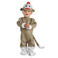 SOCK MONKEY TODDLER COSTUME SIZE 12-18 MO NWT Halloween