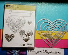 Stampin Up HEARTS COLLECTION Framelits Dies & TAKE IT TO HEART Spring Bird Kids