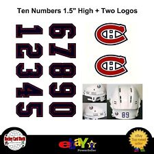 (HCW) Montreal Canadiens NHL Hockey Helmet Decals Set + Two Logos