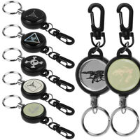 Heavy Retractable Recoil Pull Reel Badge Key Chain Belt Clip ID Card Holder New
