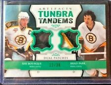 2013-14 Artifacts Tundra Tandems Patches Emerald /36 #TTBP Bourque / Park Bruins