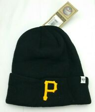 NEW Pittsburgh Pirates Black Knit Beanie Cap Hat Toboggan by 47 Brand FREE MLB