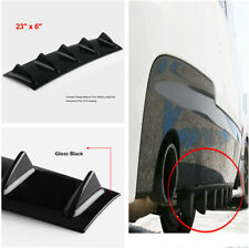 Cutable Car Rear Body Bumper Diffuser Shark Fin Kit Gloss Black ABS Plastic X 1