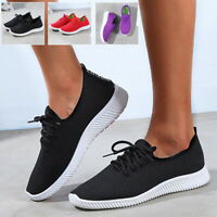 Womens Breathable Mesh Sports Running Shoes Gym Sneakers Light Bottom Shoes UK