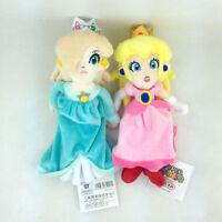 "2X Super Mario Bros Princess Peach Rosalina Plush Kid Xmas Gift Stuffed 8"" Toy"