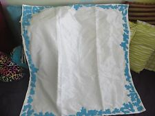 "Turquoise Blue Beaded Dupion Silk Decorative Table Topper Cover 40"" SQ Coral Sea"