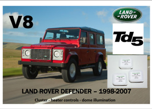 LAND ROVER DEFENDER Td5/V8 1998 - 2007 instrument panel & dome 9 LED KIT