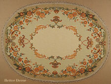 """28"""" DECORATIVE TAPESTRY TABLE RUNNER / PLACE MAT Orange Ornament FLORAL ACCENT"""