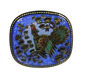 Kholui Russian Lacquer Box Wood Grouse (The western capercaillie) BLUE #4089