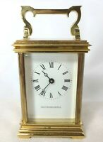 Vintage Bailey Banks and Biddle French Carriage Quartz Table Desk Clock