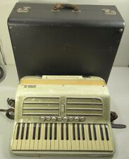 VINTAGE SOPRANI INC. LIDO ACCORDION ~ 120 BASS 41-KEY Full-Size Marble White