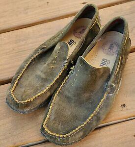 Clarks Originals Men's Crepe Soles Green Suede Moccasins Loafers Size 8.5 M