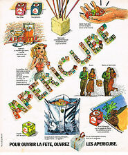 PUBLICITE ADVERTISING 084  1977   APERICUBE  petits fromages pour l'apéritif