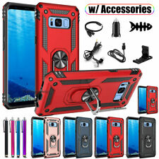 For Samsung Galaxy S8 / S8 Plus Case, Ring Kickstand Shockproof Armor Hard Cover