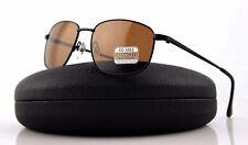 POLARIZED New Authentic SERENGETI MONREALE Satin Black Drivers Sunglasses 8398