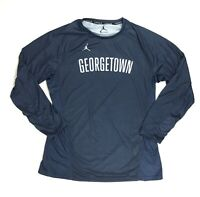 New Nike Jordan Georgetown Hoyas LS Basketball Shirt Women's M Navy 928698
