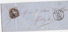 Faltbrief 1858 Belgien 10 Postes Briefmarke Cent Brief Cover Belgium Leopolt I.