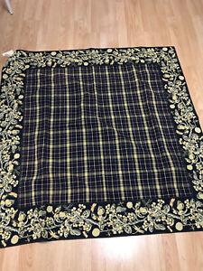 Vintage April Cornell 50 inch square Tablecloth 2000