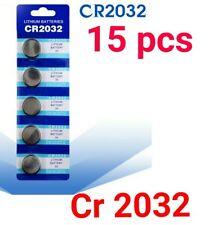 15 batterie a bottone cr 2032 blister da 5 pezzi