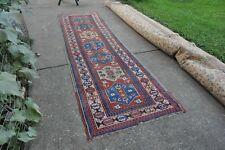 New listing Antique Caucasian Kazak Rug Runner 3.6x12