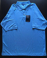 2 New Port Authority Mens XL Light Blue Short Sleeve Golf Polo Shirts Dry Fit