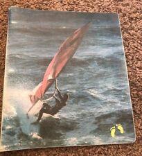 RARE vtg 1970's Hang Ten Wind surfin  School Folder 3 ring binder rare feet logo