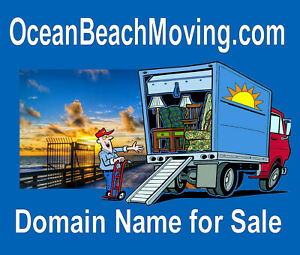 Ocean Beach Moving .com Domain Name For Sale Make Money Moving people San Diego