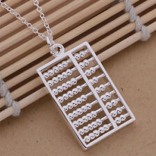 AN254 Free shipping Classic Mini Abacus Style solid silver Necklace + gift bag