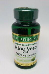 Nature's Bounty Aloe Vera Gel 5000mg Equivalent, 100 Rapid Softgels 04/21 & 6/21