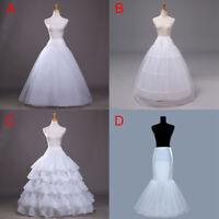 Wedding Petticoat Bridal Hoop Hoopless Crinoline Half Slip Prom Underskirt