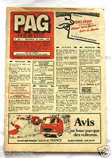 Pub Publicité Journal Petites Annonces Générales PAG Hebdo Nancy 1980 n°531