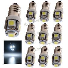 10Pcs 12V White E10 LED 5SMD 5050 LED Light Bulbs E10 Screw LED Mini Light Lamp