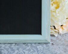 Boho chic robin's egg blue framed chalkboard wedding & party decorations