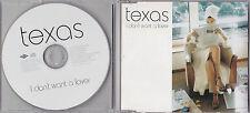 MAXI CD TEXAS I DON'T WANT A LOVER 2001 MIX 1t COLLECTOR  DE 2001