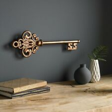 Castle Key Metal Wall Art Sculpture Home Living Room Dining Room Decor Rose Gold