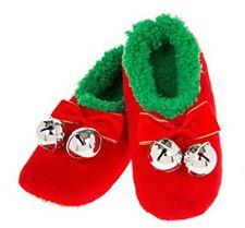 SNOOZIES Pantofole Babbucce NATALE Fiocco + Campanellini ROSSO M 38-39